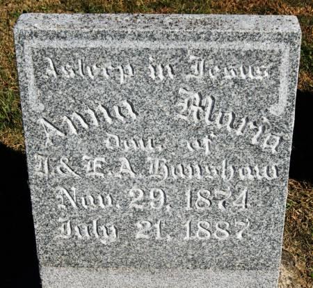 HANSHAW, ANNA MARIA - Taylor County, Iowa   ANNA MARIA HANSHAW