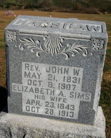 SIMS HANSHAW, ELIZABETH ANN - Taylor County, Iowa   ELIZABETH ANN SIMS HANSHAW