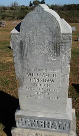 HANSHAW, WILLIAM HARRISON - Taylor County, Iowa | WILLIAM HARRISON HANSHAW