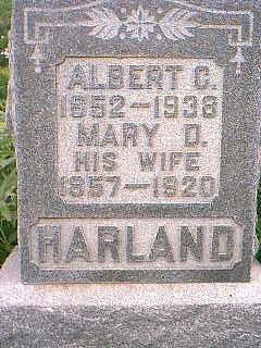 HARLAND, MARY D. - Taylor County, Iowa | MARY D. HARLAND