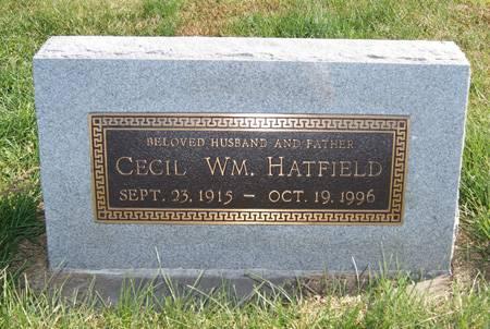HATFIELD, CECIL WILLIAM - Taylor County, Iowa   CECIL WILLIAM HATFIELD