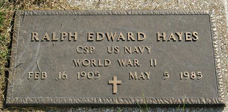HAYES, RALPH EDWARD - Taylor County, Iowa | RALPH EDWARD HAYES