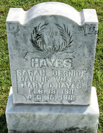 HAYES, SARAH BERNICE - Taylor County, Iowa | SARAH BERNICE HAYES