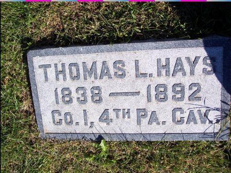 HAYS, THOMAS L. - Taylor County, Iowa | THOMAS L. HAYS