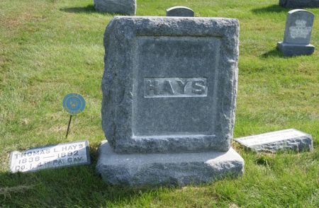 HAYS, THOMAS LUPHER, FAMILY STONE OF - Taylor County, Iowa | THOMAS LUPHER, FAMILY STONE OF HAYS