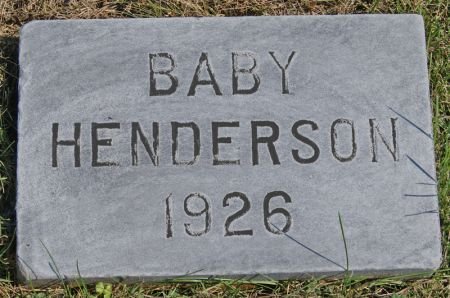 HENDERSON, CLARENCE ISAAC, INFANT SON OF - Taylor County, Iowa | CLARENCE ISAAC, INFANT SON OF HENDERSON