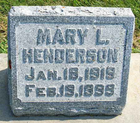 ARNEAL HENDERSON, MARY LOUISE - Taylor County, Iowa   MARY LOUISE ARNEAL HENDERSON