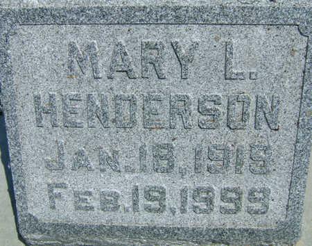 ARNEAL HENDERSON, MARY - Taylor County, Iowa | MARY ARNEAL HENDERSON