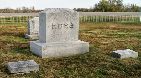 HESS, CHARLES CONRAD, FAMILY STONE OF - Taylor County, Iowa | CHARLES CONRAD, FAMILY STONE OF HESS
