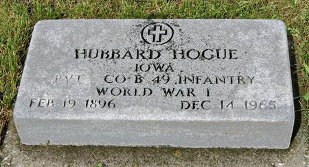 HOGUE, HUBBARD D. - Taylor County, Iowa | HUBBARD D. HOGUE