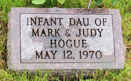 HOGUE, INFANT DAUGHTER OF MARK - Taylor County, Iowa   INFANT DAUGHTER OF MARK HOGUE