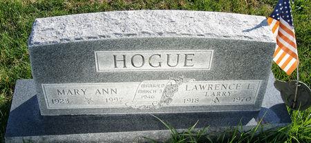 HOGUE, MARY ANN - Taylor County, Iowa | MARY ANN HOGUE