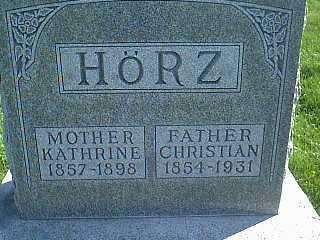 HORZ, KATHRINE - Taylor County, Iowa | KATHRINE HORZ