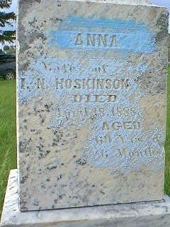 HOSKINSON, ANNA - Taylor County, Iowa | ANNA HOSKINSON