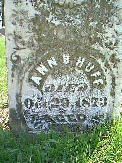 HUFF, ANN B. - Taylor County, Iowa | ANN B. HUFF