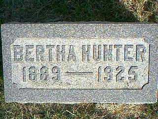 HUNTER, BERTHA - Taylor County, Iowa | BERTHA HUNTER