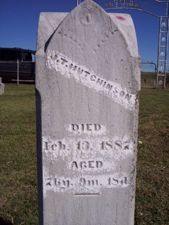 HUTCHINSON, J.T. - Taylor County, Iowa   J.T. HUTCHINSON