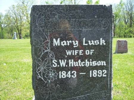 LUSK HUTCHISON, MARY - Taylor County, Iowa | MARY LUSK HUTCHISON