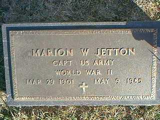 JETTON, MARION W. - Taylor County, Iowa | MARION W. JETTON