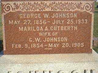 CUTBERTH JOHNSON, MARILDA - Taylor County, Iowa | MARILDA CUTBERTH JOHNSON
