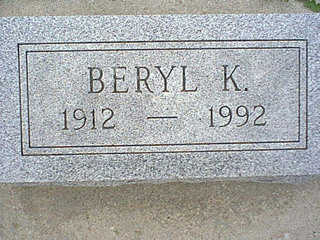KELSO, BERYL - Taylor County, Iowa   BERYL KELSO