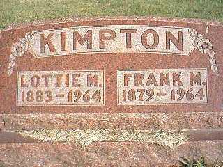 KIMPTON, LOTTIE M. - Taylor County, Iowa   LOTTIE M. KIMPTON