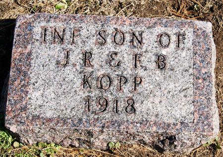 KOPP, JESSE ROSS, INFANT SON OF - Taylor County, Iowa   JESSE ROSS, INFANT SON OF KOPP