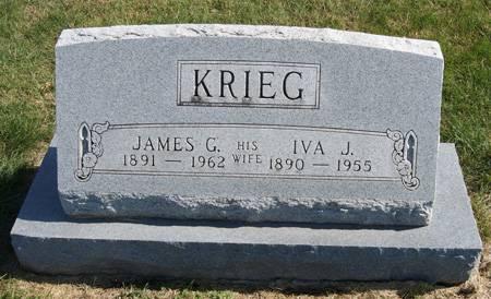 KRIEG, JAMES GILLESPIE - Taylor County, Iowa | JAMES GILLESPIE KRIEG