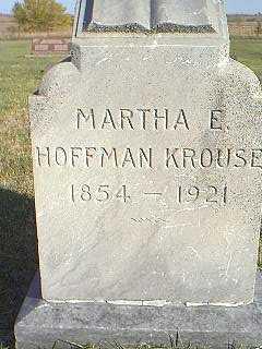 HOFFMAN KROUSE, MARTHA - Taylor County, Iowa | MARTHA HOFFMAN KROUSE