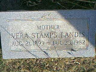 STAMPS LANDIS, VERA - Taylor County, Iowa | VERA STAMPS LANDIS