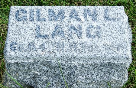 LANG, GILMAN L. - Taylor County, Iowa | GILMAN L. LANG