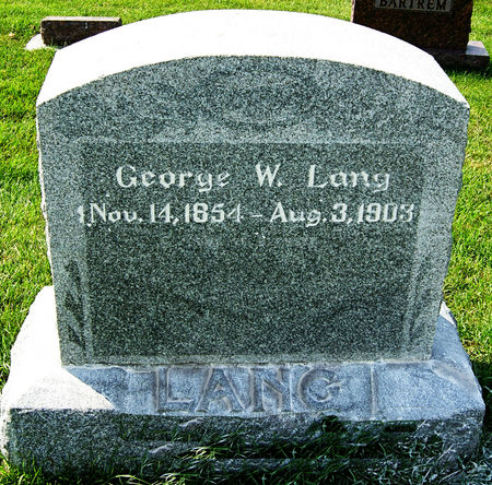 LANG, GEORGE W. - Taylor County, Iowa | GEORGE W. LANG