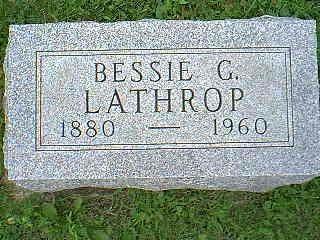 LATHROP, BESSIE G. - Taylor County, Iowa | BESSIE G. LATHROP