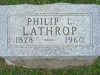 LATHROP, PHILIP L. - Taylor County, Iowa | PHILIP L. LATHROP