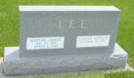 LEE, MARTHA JERENE - Taylor County, Iowa | MARTHA JERENE LEE