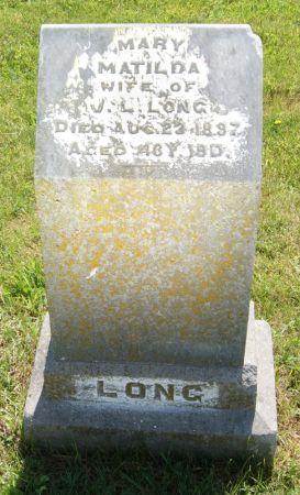 LANTRY LONG, MARY MATILDA - Taylor County, Iowa | MARY MATILDA LANTRY LONG