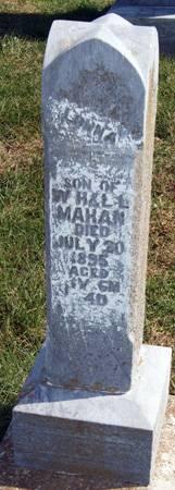 MAHAN, LONNIE - Taylor County, Iowa | LONNIE MAHAN