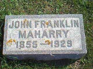 MAHARRY, JOHN FRANKLIN - Taylor County, Iowa | JOHN FRANKLIN MAHARRY