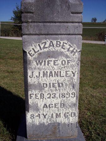 MANLEY, ELIZABETH - Taylor County, Iowa | ELIZABETH MANLEY