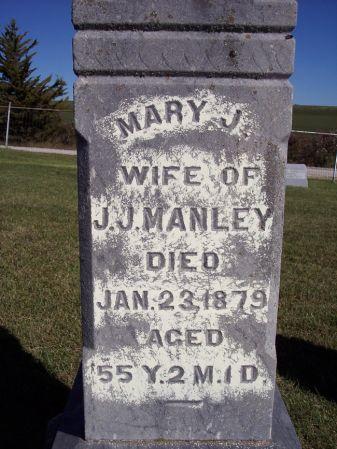 MANLEY, MARY J. - Taylor County, Iowa   MARY J. MANLEY