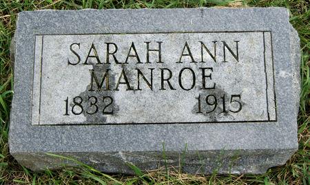 WALTERS MANROE, SARAH ANN - Taylor County, Iowa   SARAH ANN WALTERS MANROE