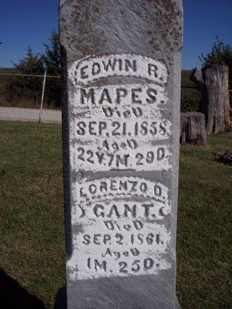 MAPES, EDWIN R. - Taylor County, Iowa | EDWIN R. MAPES