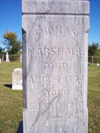 MARSHALL, THOMAS - Taylor County, Iowa | THOMAS MARSHALL