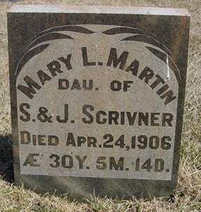 SCRIVNER MARTIN, MARY L. - Taylor County, Iowa | MARY L. SCRIVNER MARTIN