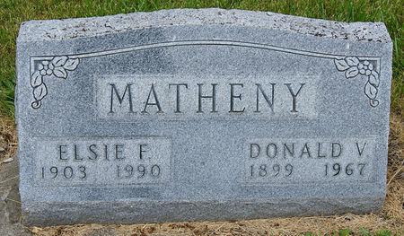 MATHENY, DONALD VICTOR - Taylor County, Iowa   DONALD VICTOR MATHENY