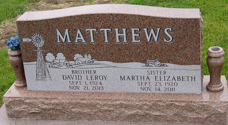 MATTHEWS, DAVID LEROY - Taylor County, Iowa | DAVID LEROY MATTHEWS