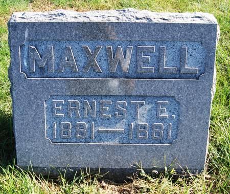MAXWELL, ERNEST EARL - Taylor County, Iowa   ERNEST EARL MAXWELL