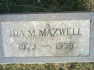MAXWELL, IDA M. - Taylor County, Iowa | IDA M. MAXWELL