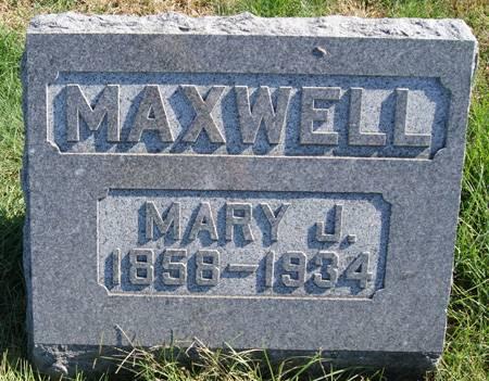 DOWLIN MAXWELL, MARY JANE - Taylor County, Iowa   MARY JANE DOWLIN MAXWELL