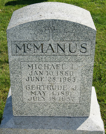 O'BRIEN MCMANUS, GERTRUDE JOHANNA - Taylor County, Iowa   GERTRUDE JOHANNA O'BRIEN MCMANUS